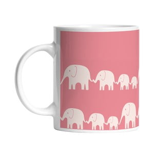 Keramický hrnček Elephant Family, 330 ml