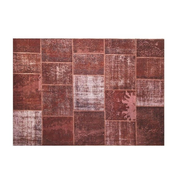 Vlnený  koberec Allmode Brown Yan, 180x120 cm