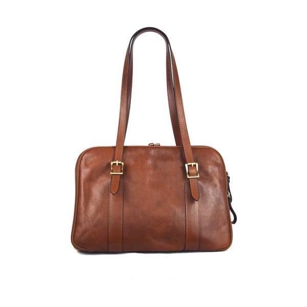 Kožená taška Santo Croce 132054 Brown