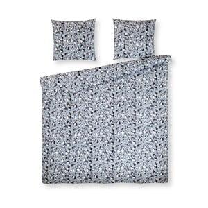 Modré bavlnené posteľné obliečky na jednolôžko Ekkelboom Famke, 140×200 cm