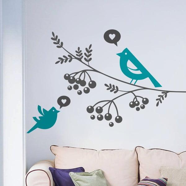 Dekoratívna samolepka na stenu Vtáky a bobule