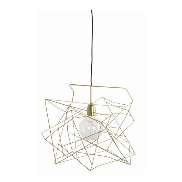 Stropné svetlo Asymmetric Shiny Gold