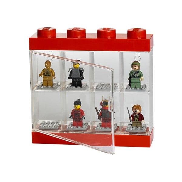 Zberateľská skrinka na 8 minifigúrok LEGO, červená