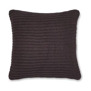 Tmavohnedá pletená obliečka na vankúš Catherine Lansfield Knit, 45×45 cm
