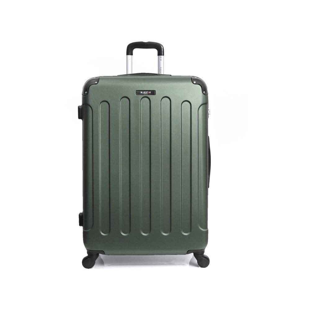 Zelený cestovný kufor na kolieskach Bluestar Madrid, 95 l