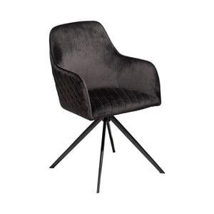 Čierna jedálenská stolička s opierkami DAN–FORM Denmark Twine Velvet