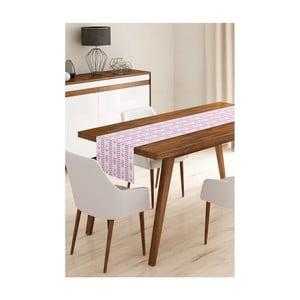 Behúň na stôl z mikrovlákna Minimalist Cushion Covers Pink Navy, 45×145 cm