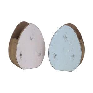 Sada 2 stojanov v tvare vajíčka Ego Dekor, 10,5 x 14,5 cm