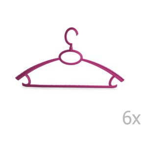 Plastový vešiak Bonita UNO Purple, 6ks