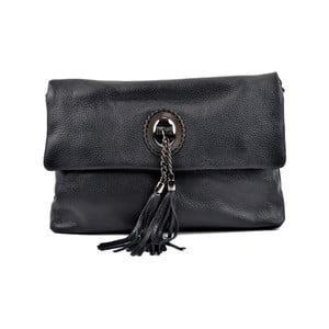 Čierna kožená kabelka crossbody Roberta M Elisa