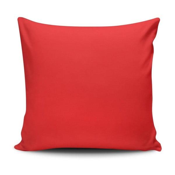 Červený vankúš Sacha, 45 x 45 cm