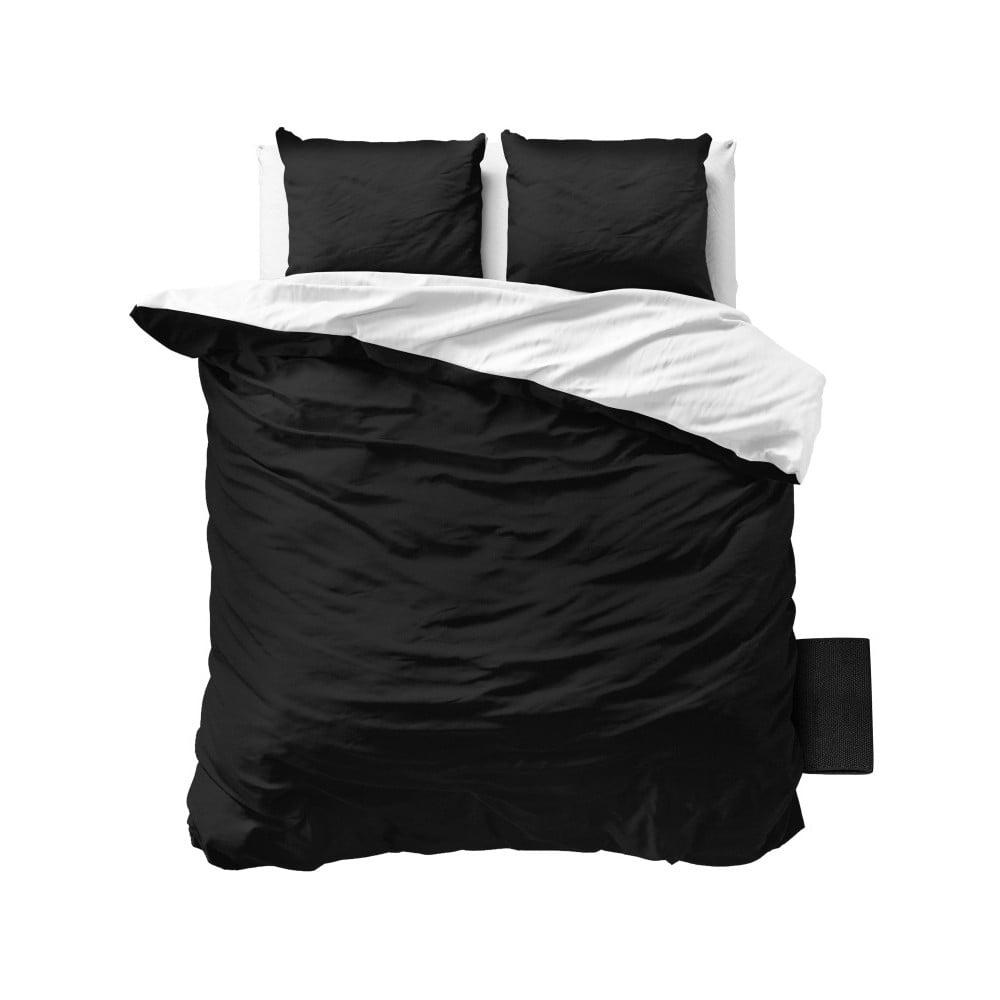 edaf2feae6e2 Čierno-biele obliečky z mikroperkálu Sleeptime Twin Face 240 × 220 cm