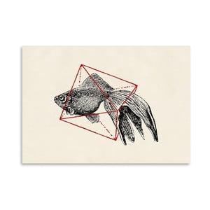 Plagát Fish In Geometrics 3 od Florenta Bodart, 30x42 cm