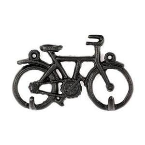 Čierny vešiak na kľúče v tvare bicykla Kikkerland Bike