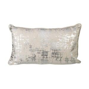 Vankúš s výplňou Parlane Foil Silver, 50x30 cm