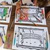 Sada 4 prestieraní na vymaľovanie Doodle, Monet