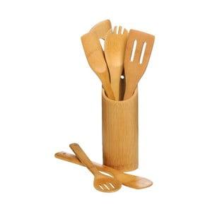 Sada 6 kuchynských nástrojov s držiakom Premier Housewares Bamboo