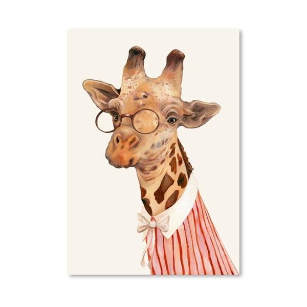 Plagát Ms Giraffe, 30x42 cm