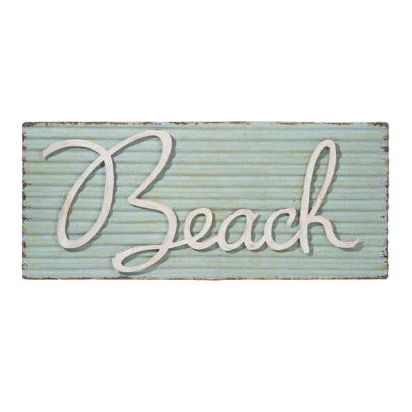 Nástenná ceduľa Beach Met Blu, 71x30 cm