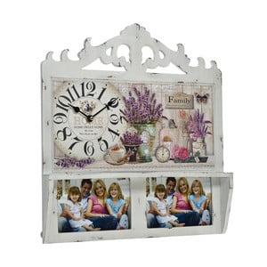 Nástenné hodiny s fotorámčekmi Floral