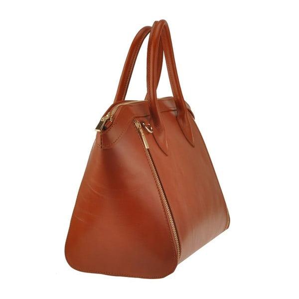 Kožená kabelka Sadira, hnedá