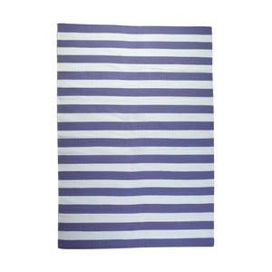 Vlnený koberec Geometry Stripes Purple & White, 160x230 cm