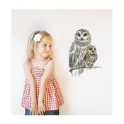 Nástenná znovu snímateľná samolepka Chocovenyl Owls