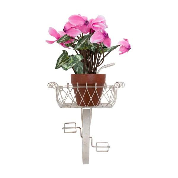 Nástenný stojan na kvetiny Da Muro, krémový