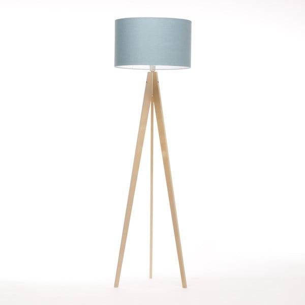 Stojacia lampa Artist Light Blue Linnen/Birch Natural, 125x42 cm