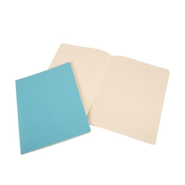 Sada 2 notesov Moleskine Sky Blue, linkované 19x25 cm