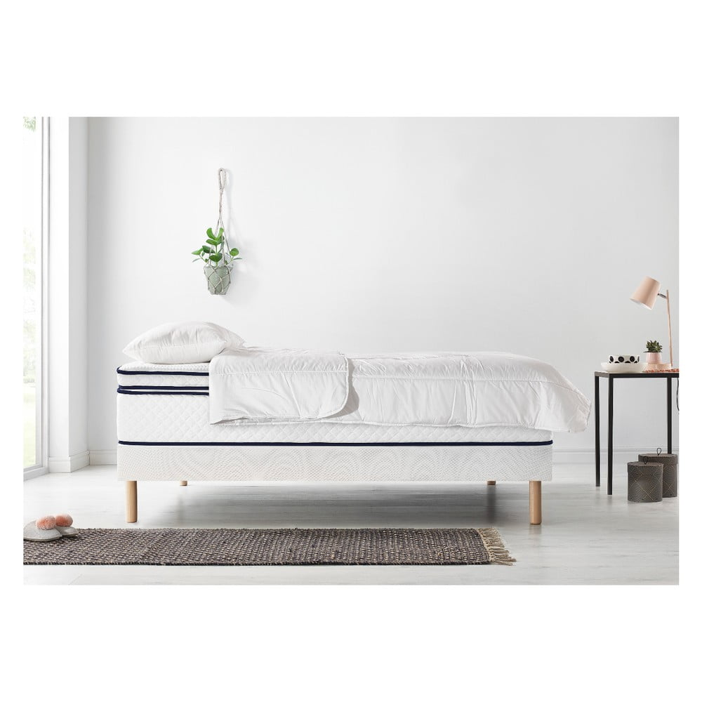 Set dvojlôžkovej postele, matraca a paplóna Bobochic Paris Simeo, 100 × 200 cm + 100 x 200 cm