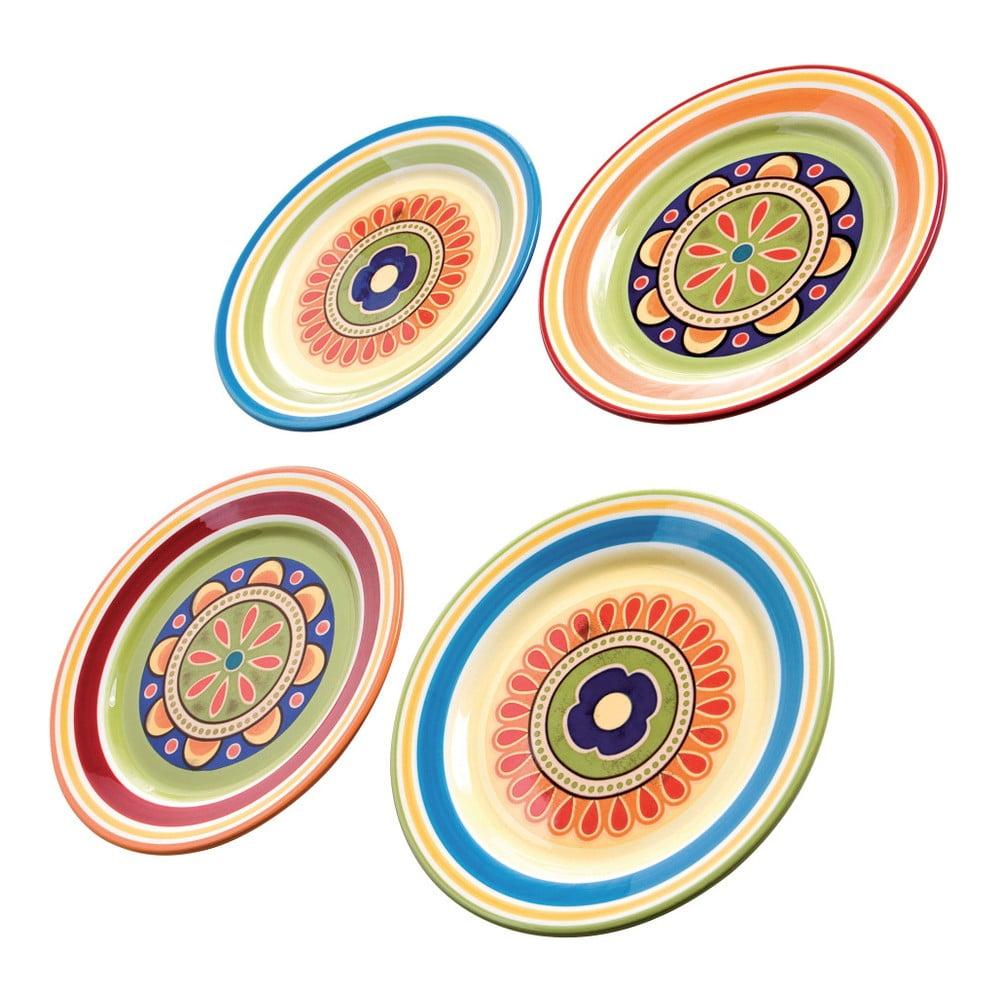 Sada 4 farebných tanierov na prílohy Brandani, ⌀ 22 cm