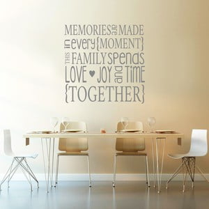 Dekoratívna samolepka na stenu Family Memories