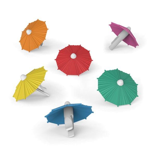 Sada 6 koktejlových dáždnikov Fred & Friends My Tai