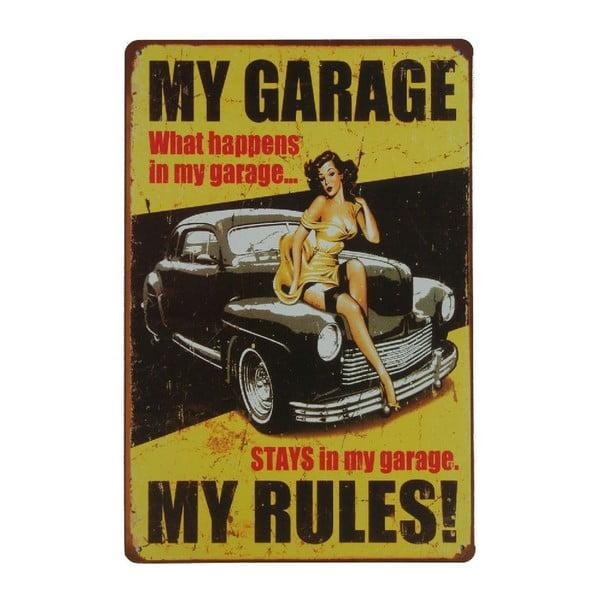 Ceduľa My Garage, 20x30 cm