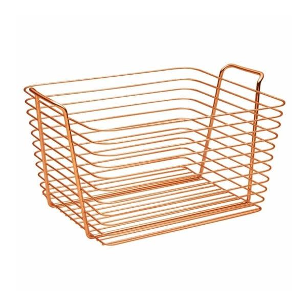 Oranžový kovový košík InterDesign Classico, 37,5 x 30 cm