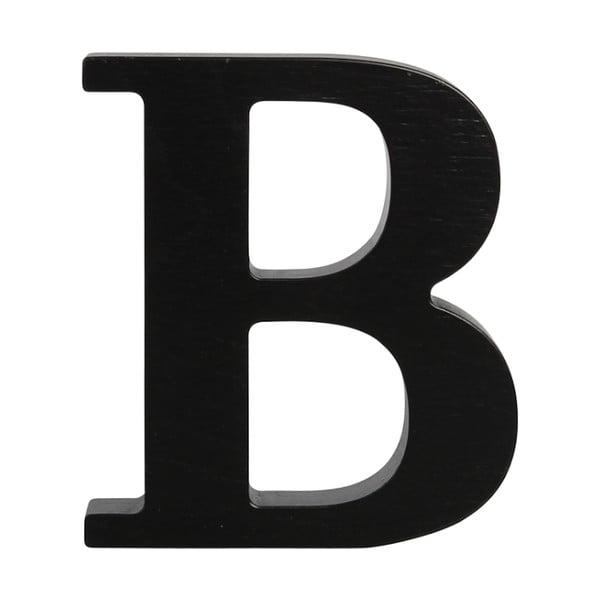 Čierne drevené písmeno Typoland B