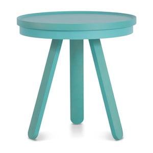 Zelený odkladací stolík z jaseňového dreva s podnosom Woodendot Batea S