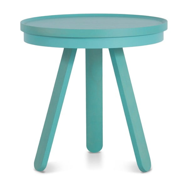 Zelenomodrý odkladací stolík z jaseňového dreva s podnosom Woodendot Batea S