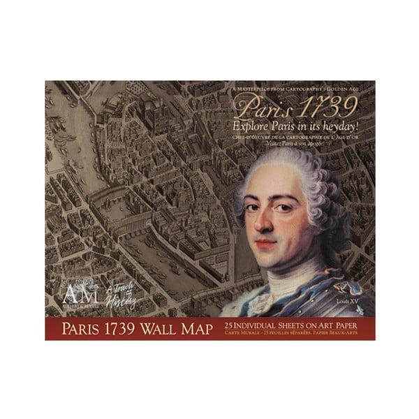 Mapa Paris 1739