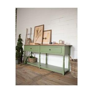 Svetlozelený konzolový stolík z borovicového dreva Orchidea Milano Cortina