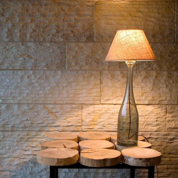 Stolná lampa Glass 90 cm, dymovo modrá