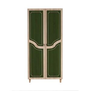 Dvojdverová šatníková skriňa Stil Retro Green, 90×192 cm