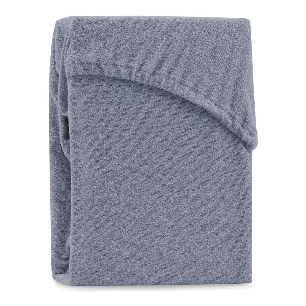 Sivá elastická plachta na dvojlôžko AmeliaHome Ruby Silver, 200-220 x 200 cm