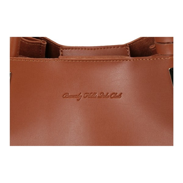 Hnedá kabelka z eko kože Beverly Hills Polo Club Frederica