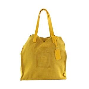 Kožená kabelka Perfume, žltá