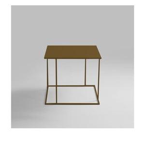 Odkladací stolík v zlatej farbe Custom Form Walt, 50 × 50 cm