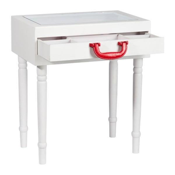 Odkladací stolček Diva White, 45x32x52 cm