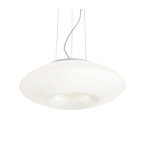 Biele závesné svietidlo Evergreen Lights Crido Blown