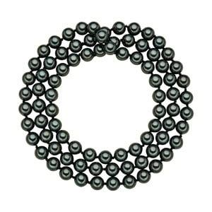 Perlový náhrdelník Muschel, zelené perly 8 mm, dĺžka 80 cm